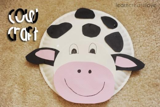 Paper Plate Cow & 45 More Creative Paper Plate Craft Ideas | FeltMagnet