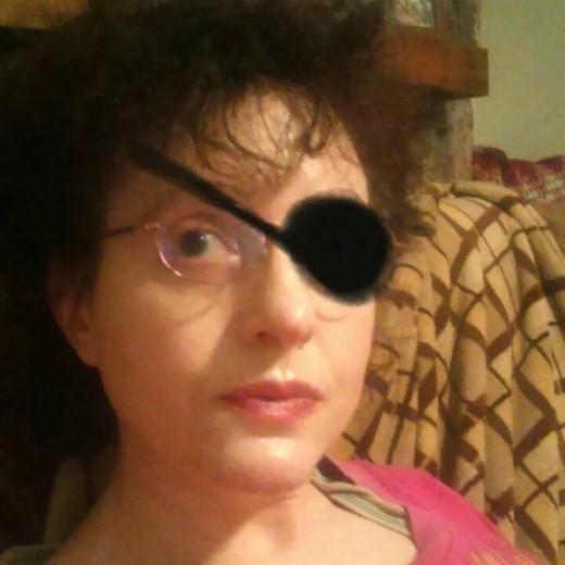 My loss of my eye happened while being a pirate.