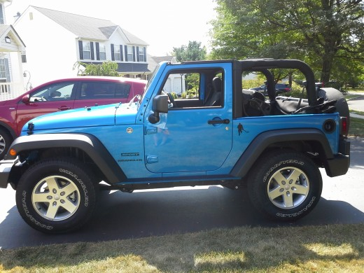 The Blue Devil  - riding around with the Jeep top down and the radio on...