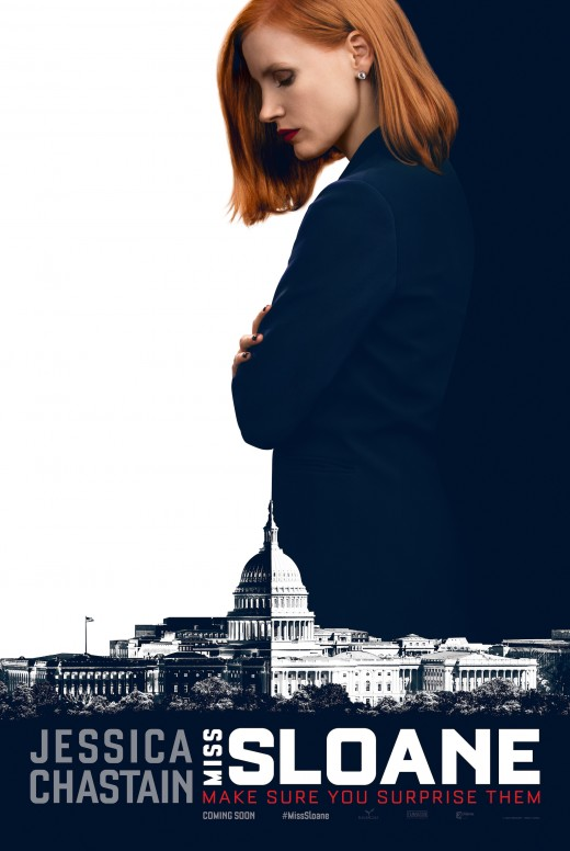Theatrical poster for Miss Sloane