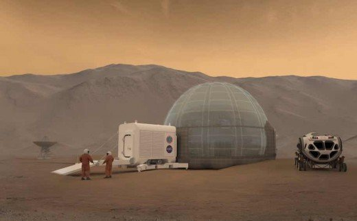NASA Artist's rendering of the Mars Ice Home