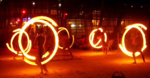 firedancers in Boracay