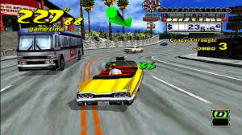 Crazy Taxi was ported from arcades to the Dreamcast and it was constant fun.