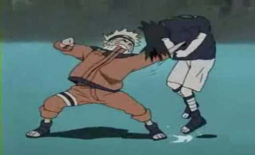 Naruto vs. Sasuke (Fight Scene in the Valley of Death)