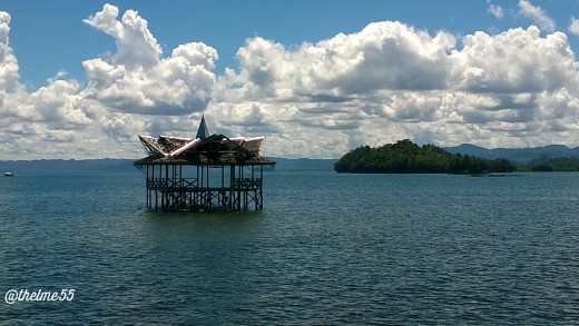 A fishing house on Lianga Bay.