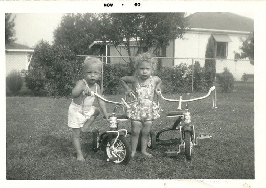 Tricycles  (My husband's twin brother and sister)