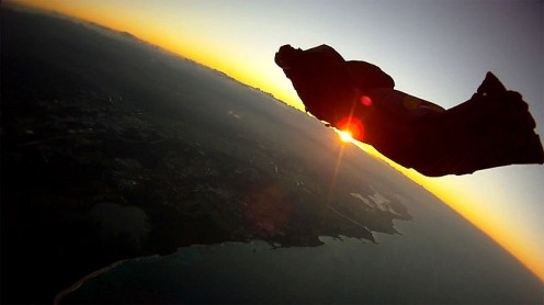 Wingsuit eclipse.