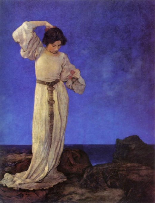 """Griselda 1910"" by Maxfield Parrish"