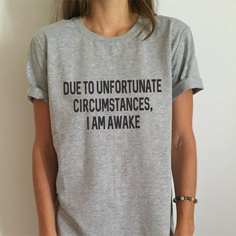 If you're not a morning person, then this funny t-shirt is made for you. It may seem simple, but the shirt's witty statement will upgrade any outfit.
