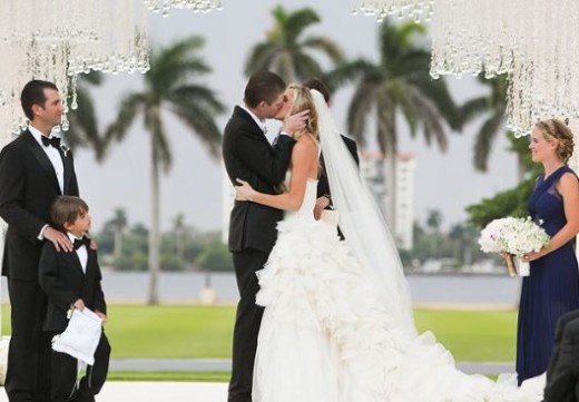 Eric Trump and Lara Yunaska's wedding in Palm Beach, Florida.