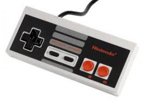 The NES controller has an a and b button, a select and start button and of course a t-pad.