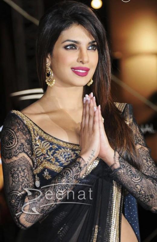 Priyanka Chopra, Bajirao Mastani star. Hands together calms the person seeing them.