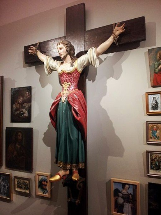 Saint Wilgefortis in the Museum of the Diocese Graz-Seckau in Graz, Austria