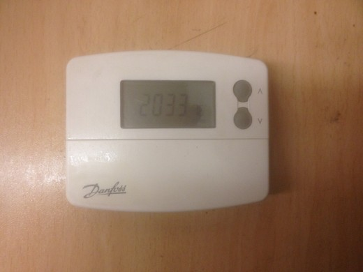 A wireless Danfoss thermostat