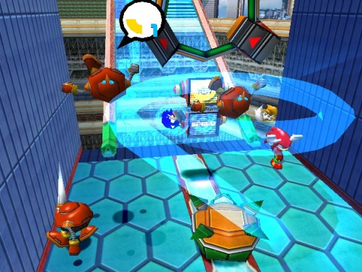 Team Sonic performing the Tornado Attack in Sonic Heroes.