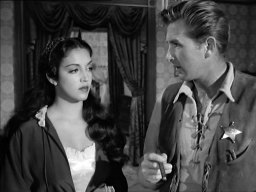 Lloyd Bridges and Katy Jurado