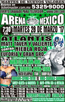 CMLL Tuesday Preview: The A (Minus) Show