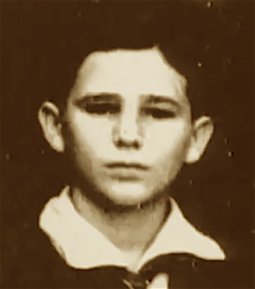 Fidel Castro as a young boy.