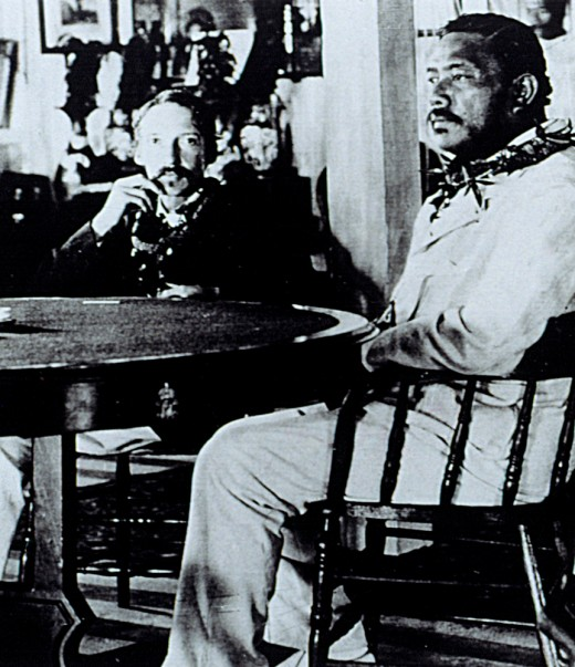 Robert Louis Stevenson With The Last King Of Hawaii, David Kalakaua