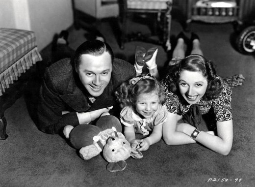 Jack Benny With His Wife Mary & Daughter Joan