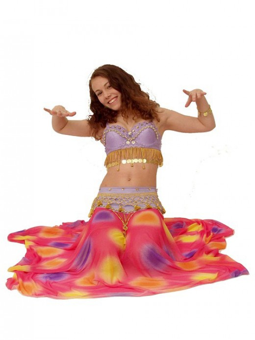 Belly dancers are happy and have fun.
