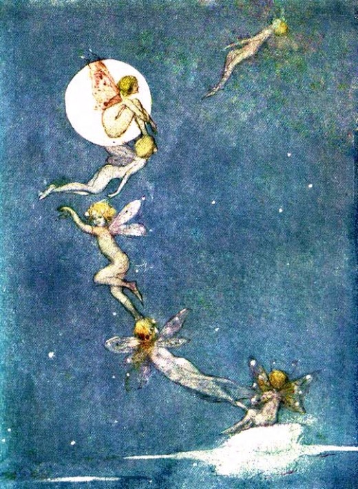 Fairies often appear in other forms - insects, bird, and small woodland animals.