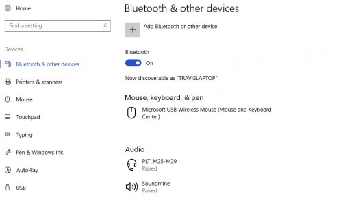 Enable Bluetooth. The Add a Device screen opens.