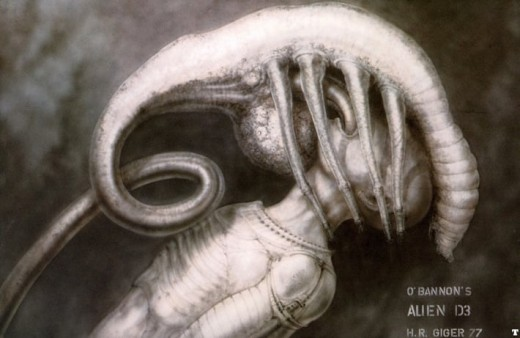 "Image from ""H.R. Giger's Original 'Alien' Concept Art"" on MoviePilot.com"
