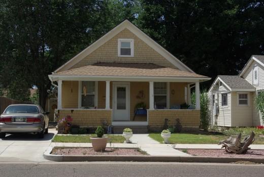 A house with siding.