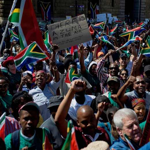 Anti-Zuma protest in pictures