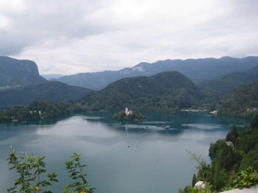 The view on Bled island