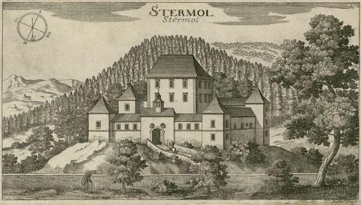 Strmol Castle as seen by Valvasor (year 1679)
