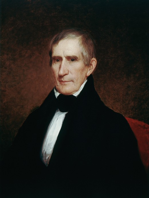 William Henry Harrison's official White House portrait