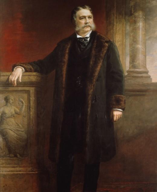 Chester Arthur's official White House portrait