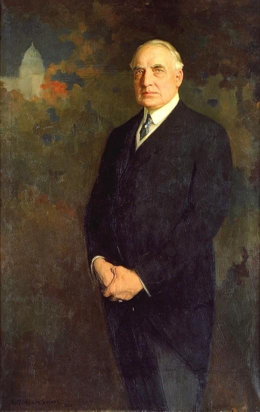 Warren Harding's official White House portrait