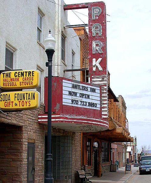 Park Theater downtown  Walden Colorado.