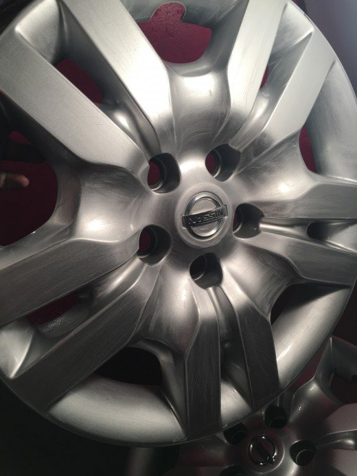 Lightly sanded hubcap