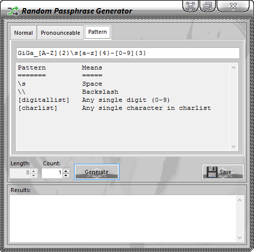 PassNGuard Random Passphrase Generator (Pattern-Tab)