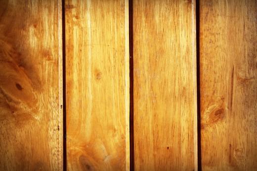 Wood siding.