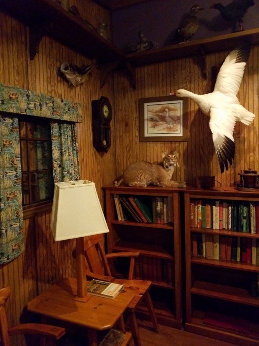 A peek into the hunting lodge.