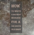 Happy Full Moon Baby Wishes―What to Write in One Month Birthday Card