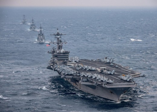 US fleet sailing towards North Korea