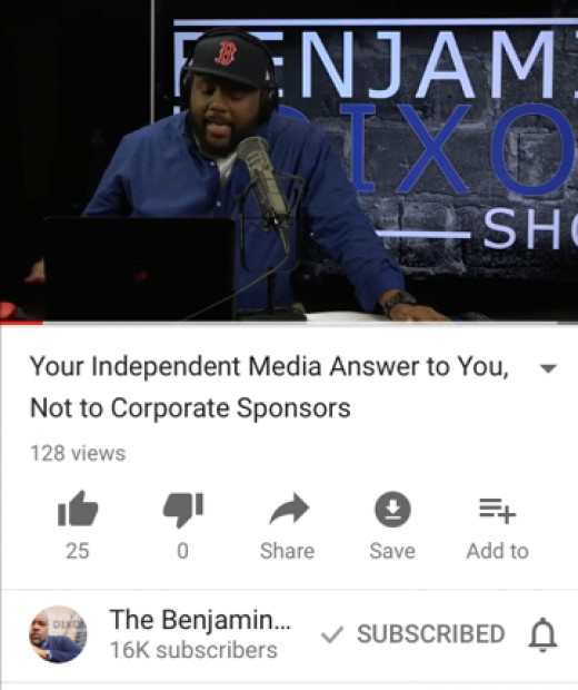 Source: Benjamin Dixon Show on YouTube