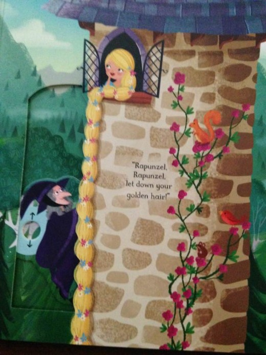 How is the problem with Rapunzel's hair solved in the end?