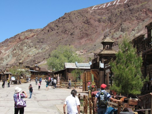 Looking up the main street of Calico.