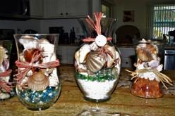 Design with shells, trash finds, old vases & imagination!