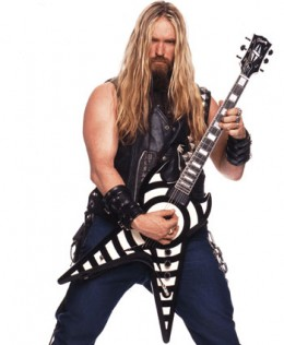 Wylde with his signature Bullseye Gibson Flying V