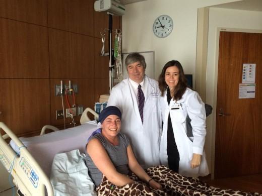 New Birthday. Me, Dr. Burt and Nurse Amy