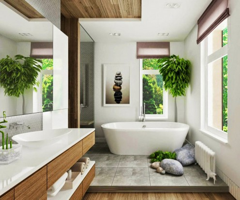GO GREEN: ALL THE PARTS SHOULD HAVE PLANTS WHETHER IT IS WASHROOM, BEDROOM OR OTHER CORNER OF HOUSE