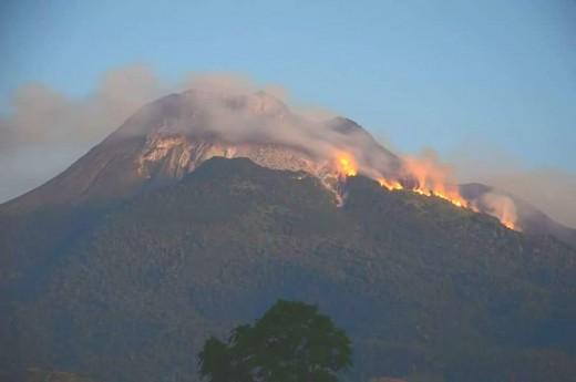 Mt Apo wildfire, March 31, 2016.